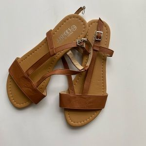 JJShoes Brown Sandals